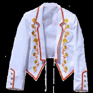 Veste d'équitation espagnole blanche