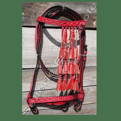 Bridon vaquero rouge