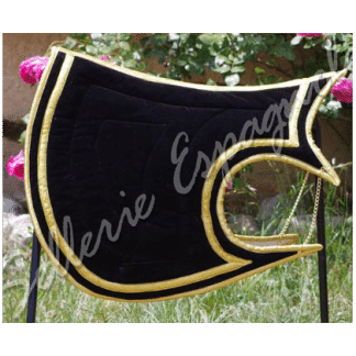 tapis baroque Luna noir or