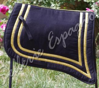 tapis iberique traditionnel noir argent