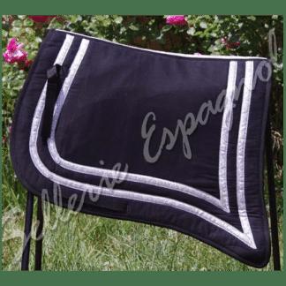 tapis ibérique traditionnel noir argent