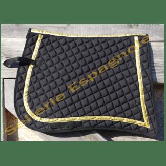 tapis pointe noir galon or