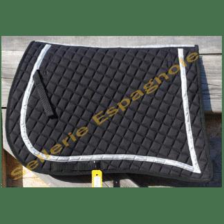 tapis pointe matelassé noir or