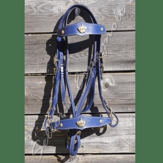 bridon couronne baroque bleu