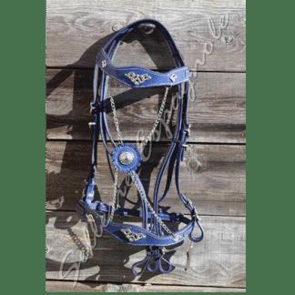 Bridon portugais cortesia bleu chaines argent