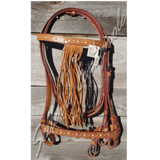 Bridon vaquero filigrane frange lisse