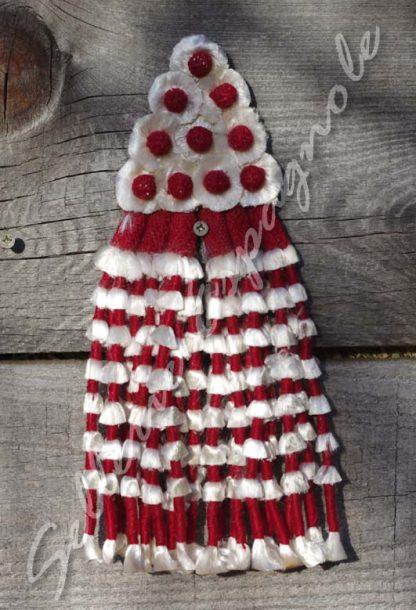 mosquero soie rouge bordeaux