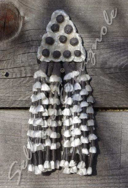 mosquero soie gris noir